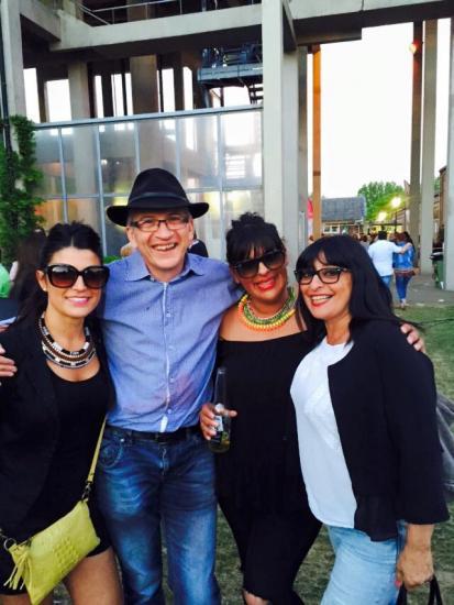Avec Letizia, Sabrina et Gina - Juin 2015