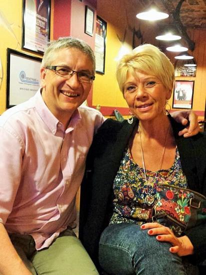Avec Myriam - Juin 2015