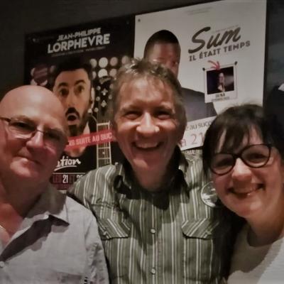 Avec Claudy (dit Fieu) et Vinciane - Le 23 août 2019