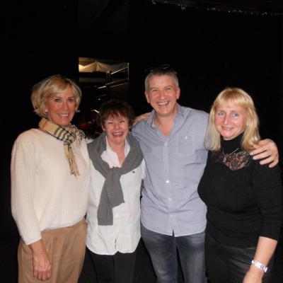Avec Françoise de Paeuw, Cécile et Pauline - 24 mars 2013