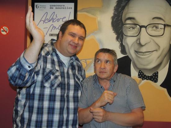 Avec François Amel (chanteur imposant) - Août 2012