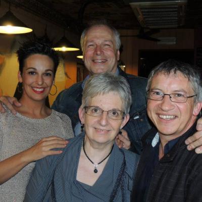 Avec Betty La Ferrara, Pierre Theunis et Jeanine - Mai 2013