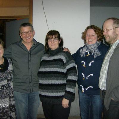 Avec Monique, Muriel et Michel et Gisèle Mariette - 17 février 2012