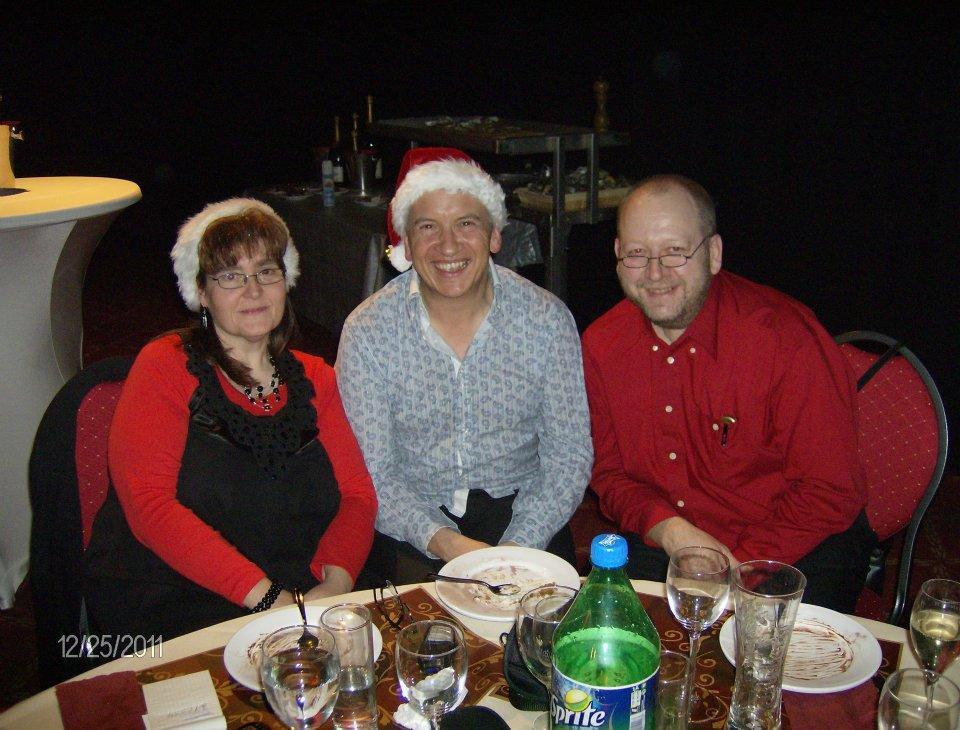 Avec Muriel et Michel le 24 décembre 2011