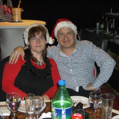 Avec Muriel le 24 décembre 2011