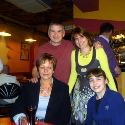 Avec Patricia, Jenny et Charline - Mars 2011